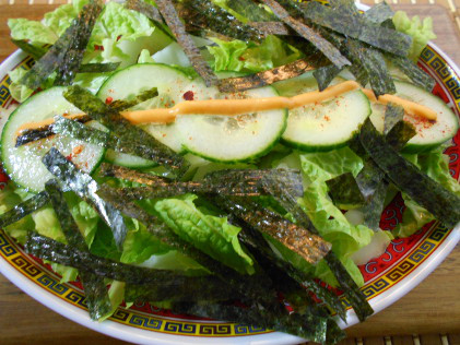 spicy greens salad asian